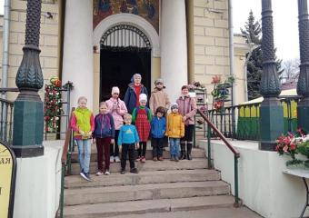 Экскурсия воскресных школьников по Переяславской слободе.