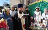 Освящение куличей и пасок в нашем храме